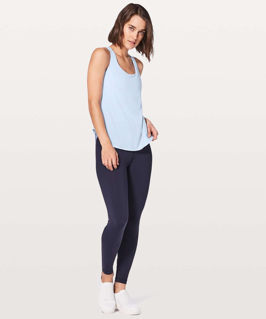 Lululemon Free To Be Serene Tank (2 In 1) Medium Support For C/D Cup - Heathered Cool Breeze / Cool Breeze