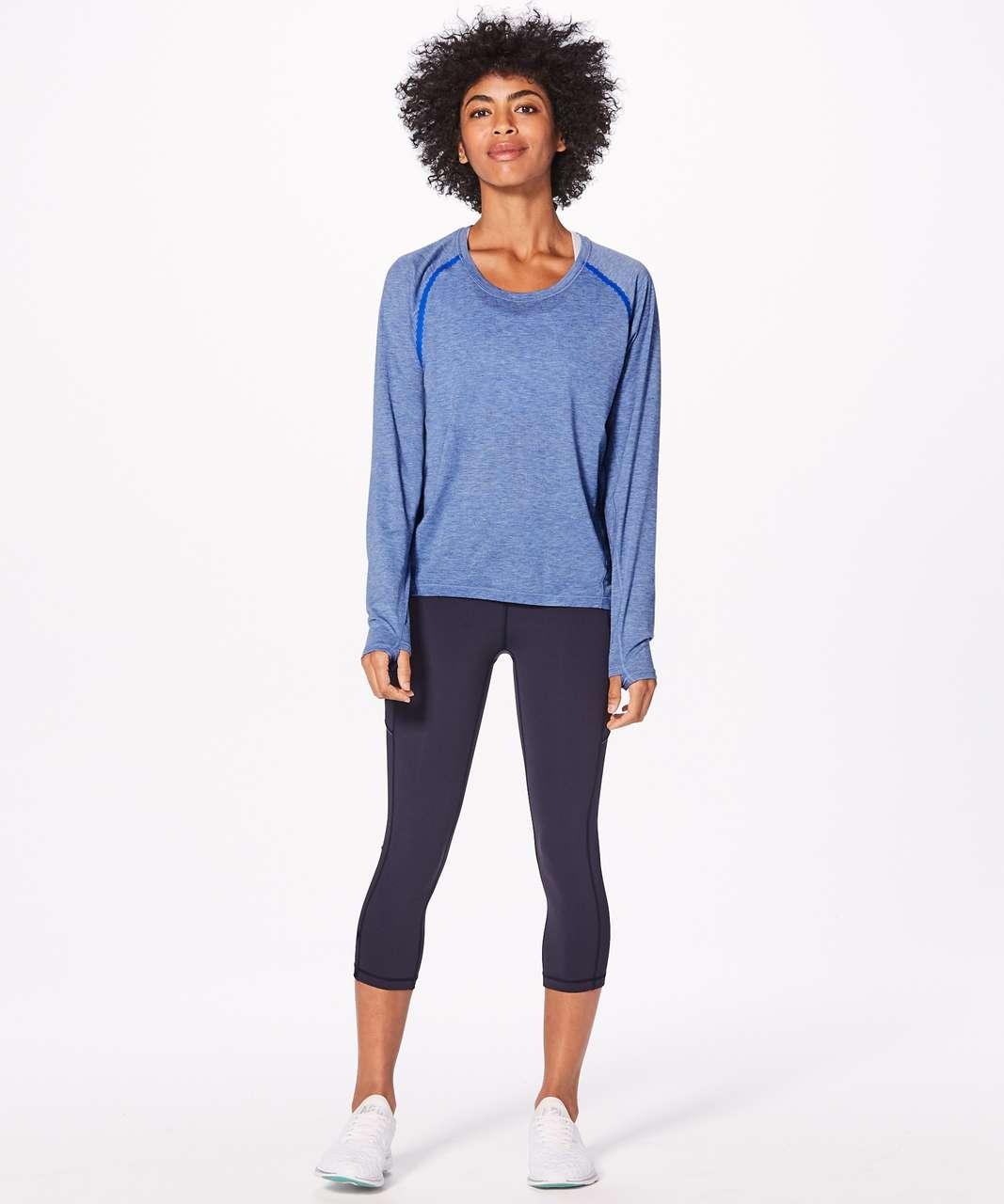 Lululemon Stop Drop & Squat Long Sleeve - Heathered Blazer Blue