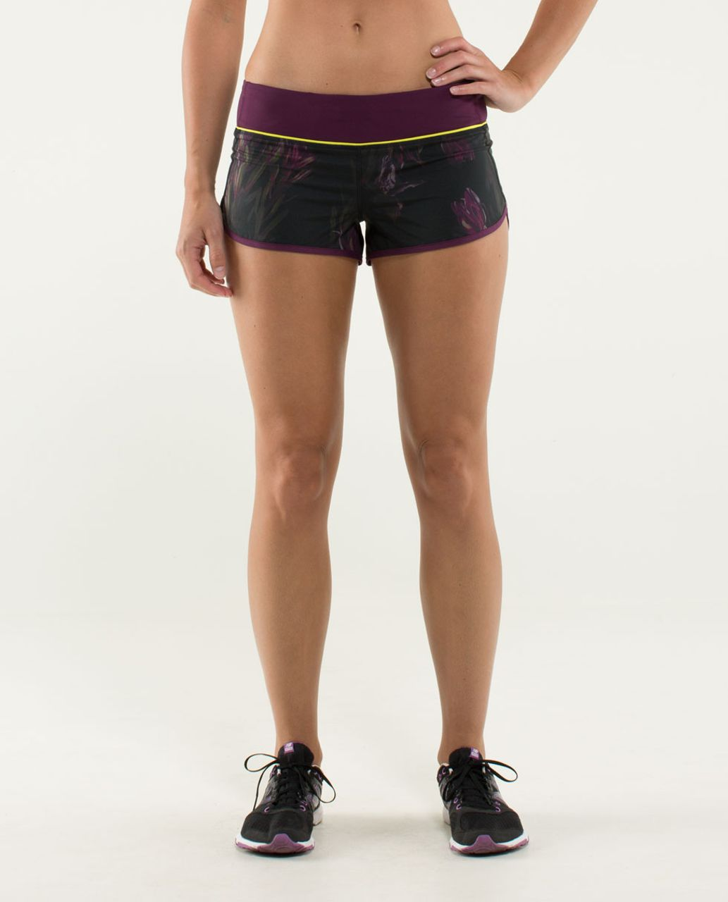 Lululemon Run:  Speed Short - Midnight Iris Multi / Plum