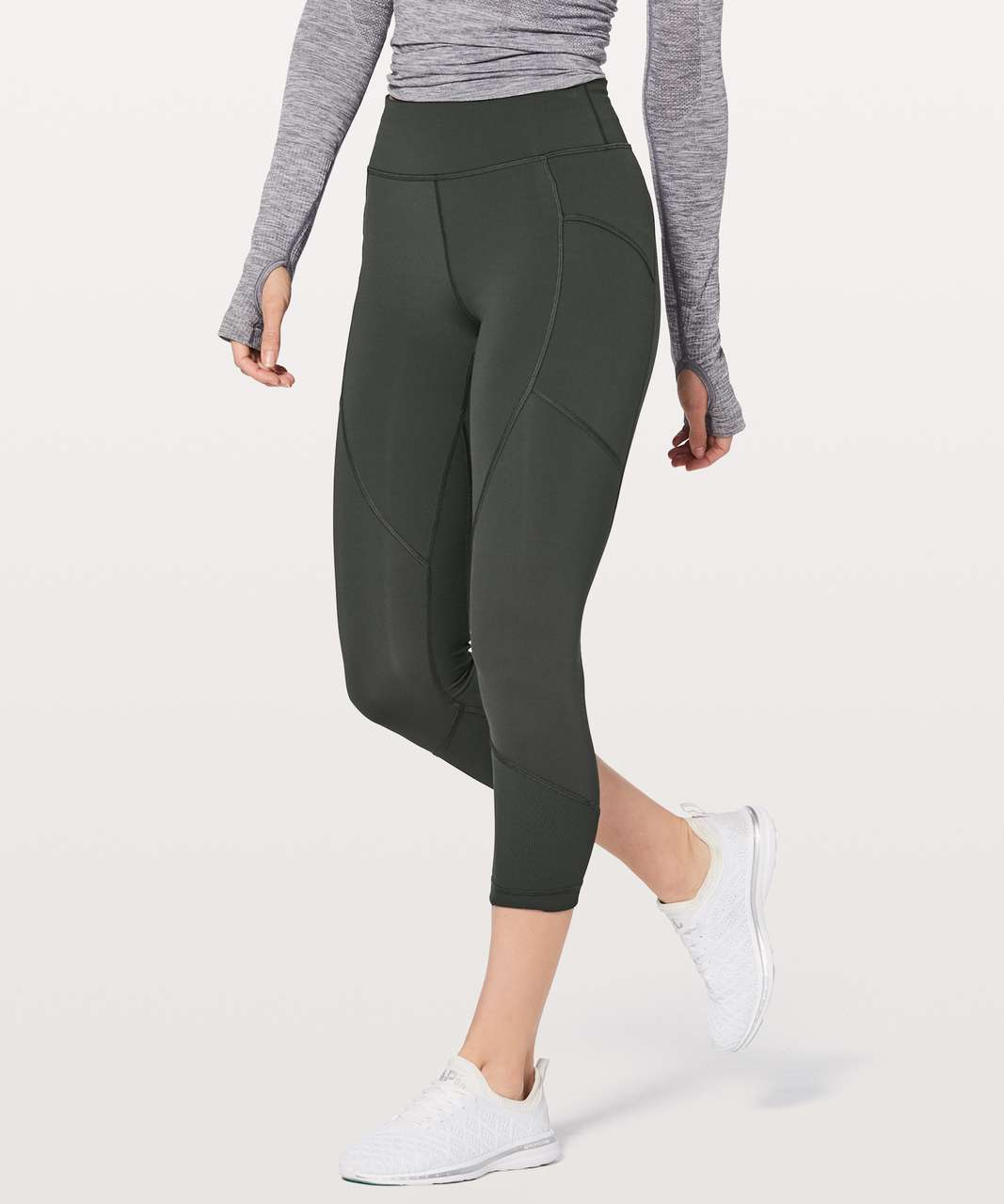 "Lululemon Game Point Crop 23"" - Deep Coal"