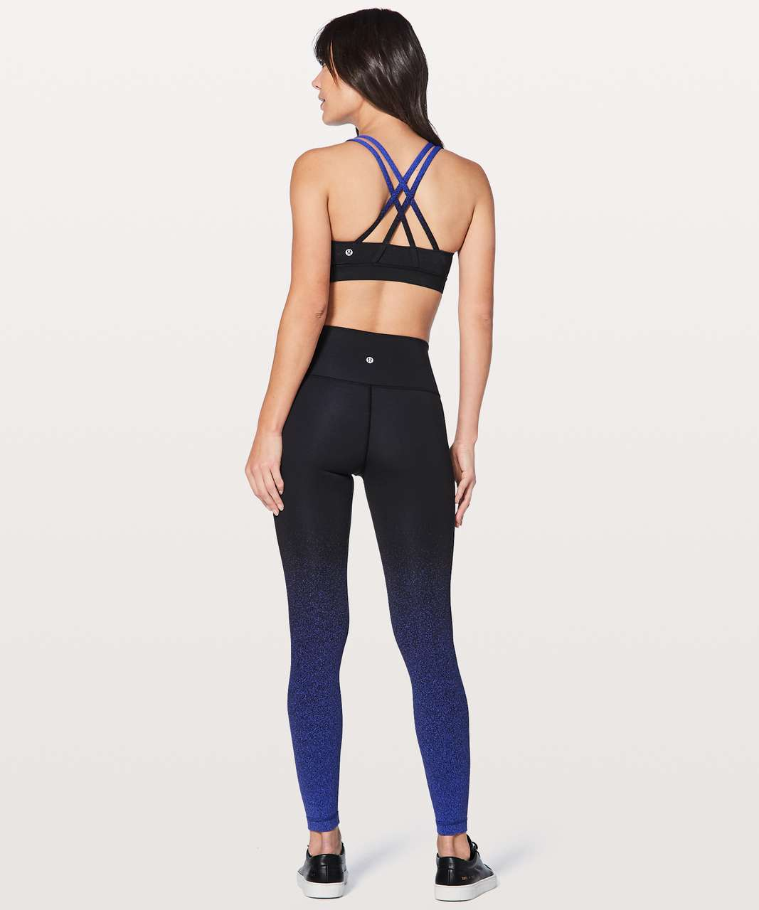 Lululemon Energy Bra Ombre Speckle - Ombre Speckle Stop Jacquard Interlock Power Luxtreme Black Blazer Blue