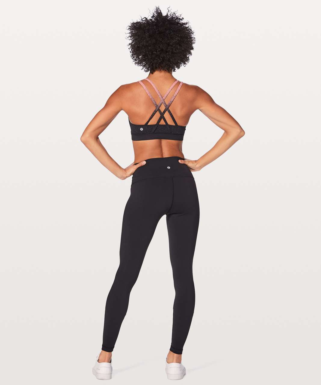 Lululemon Energy Bra Ombre Speckle - Ombre Speckle Stop Jacquard Interlock Power Luxtreme Black Yum Yum Pink