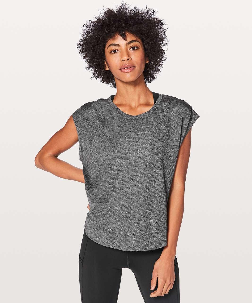Lululemon Gait Keeper Short Sleeve - Heathered Black