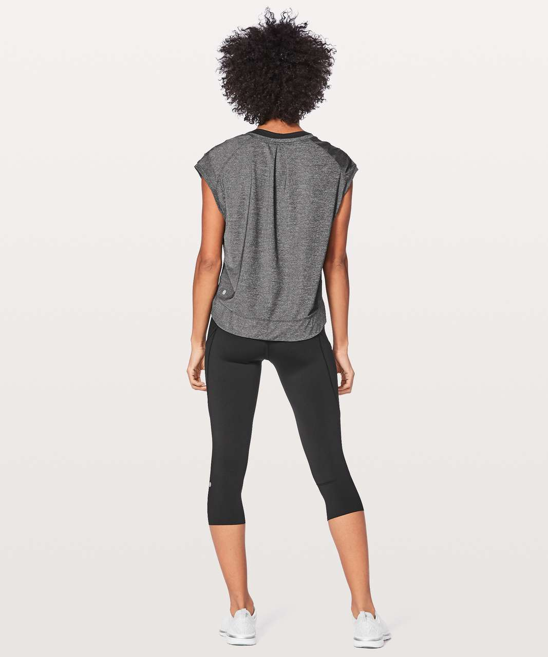 Lululemon Gait Keeper Short Sleeve - Heathered Black