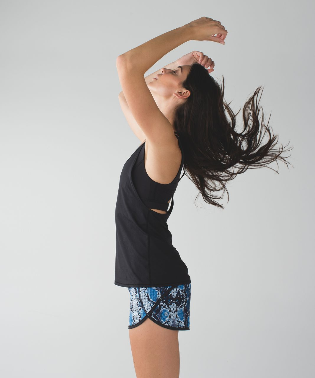 Lululemon Run:  Speed Short *4-way Stretch - Mini Ziggy Snake Caspian Blue Pipe Dream Blue / Pipe Dream Blue / Caspian Blue