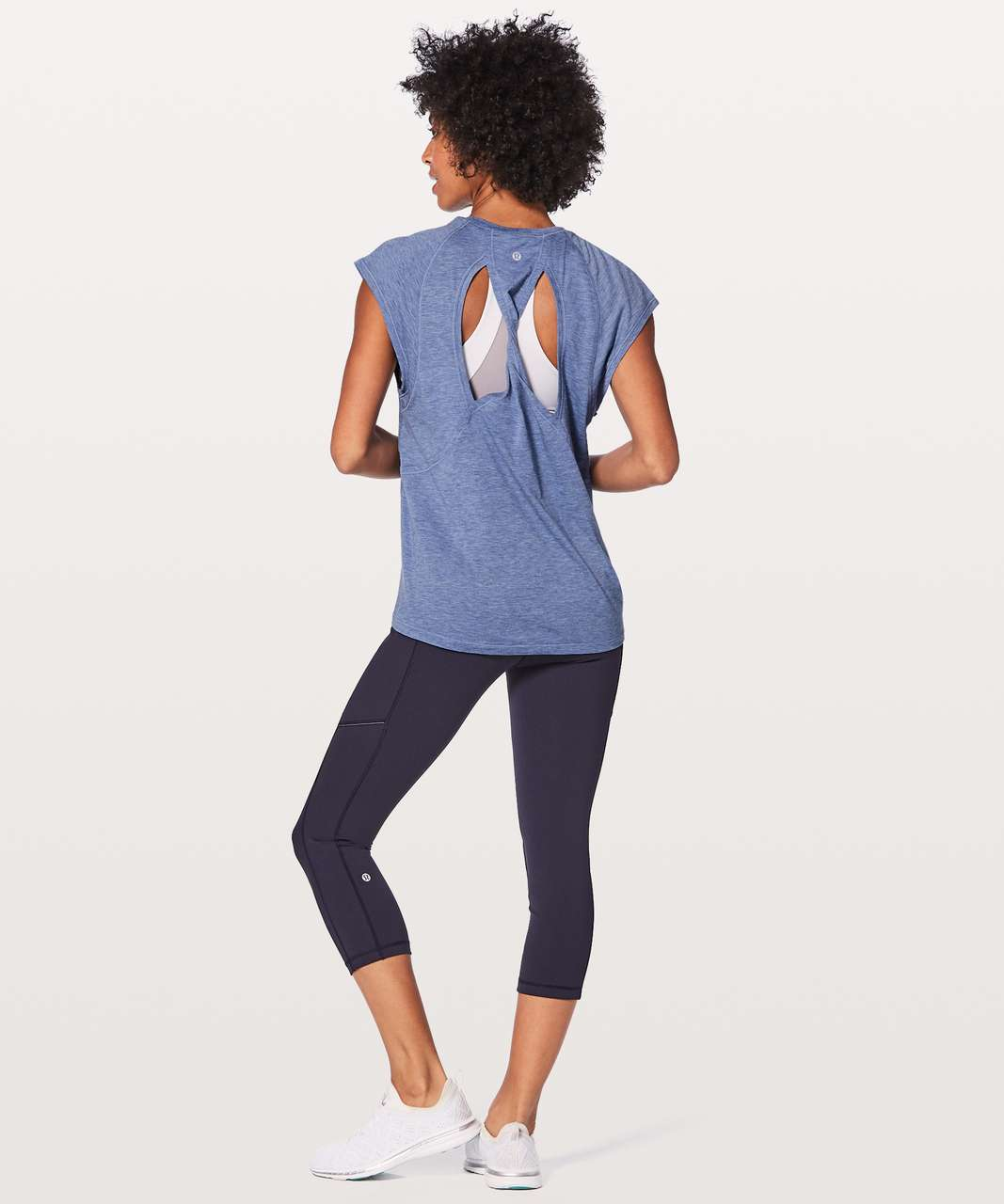 Lululemon Stop Drop & Squat Short Sleeve - Heathered Blazer Blue
