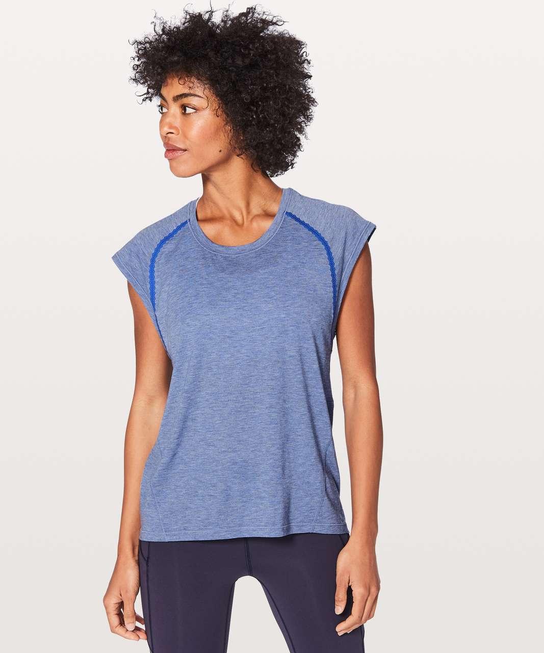 Lululemon Stop Drop & Squat Short Sleeve - Heathered Blazer Blue