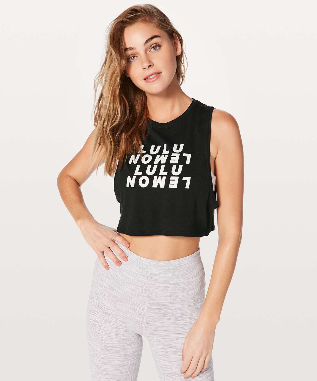 Lululemon Muscle Love Crop Tank *Expression - Black