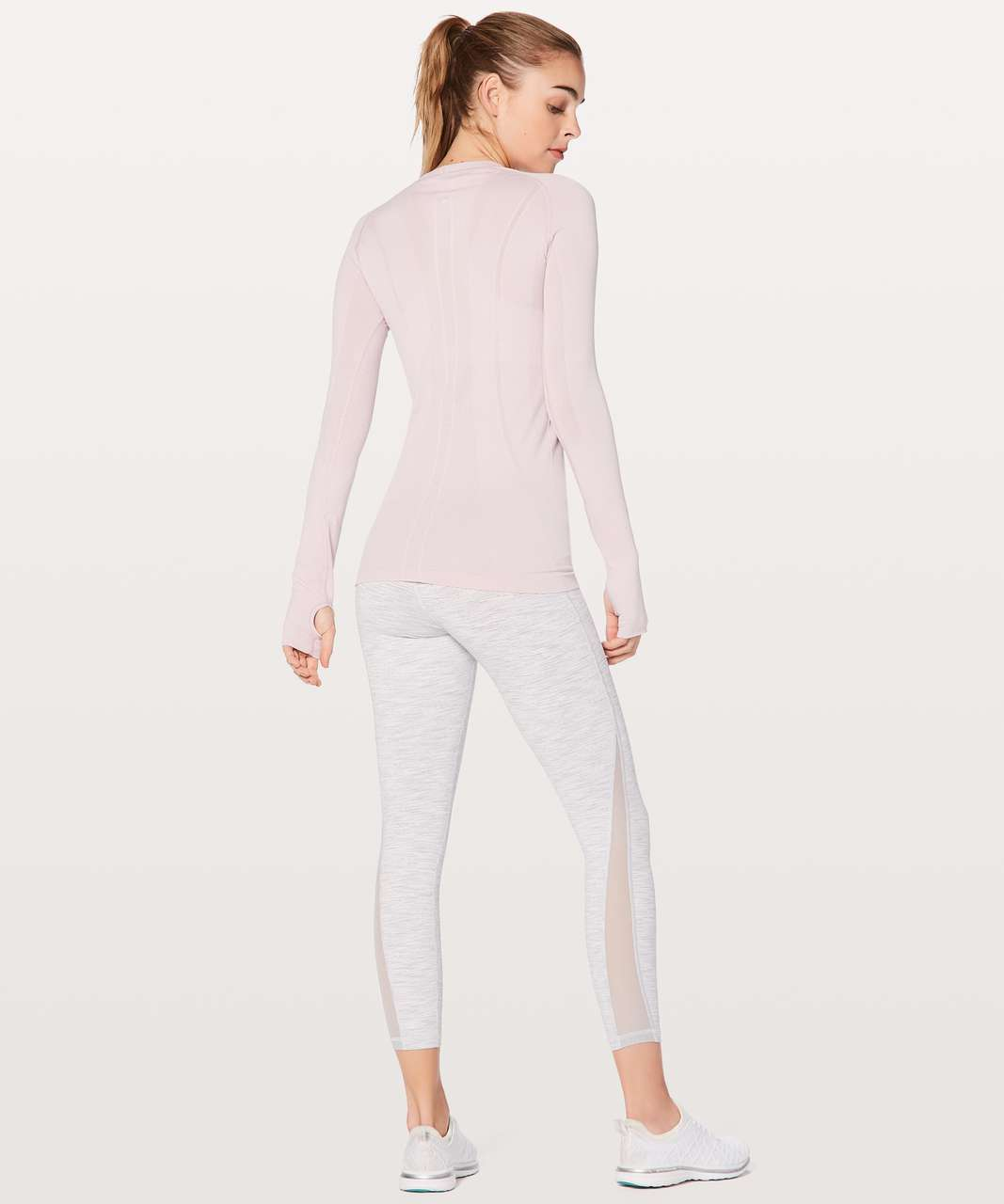 Lululemon Swiftly Tech Long Sleeve Crew - Porcelain Pink