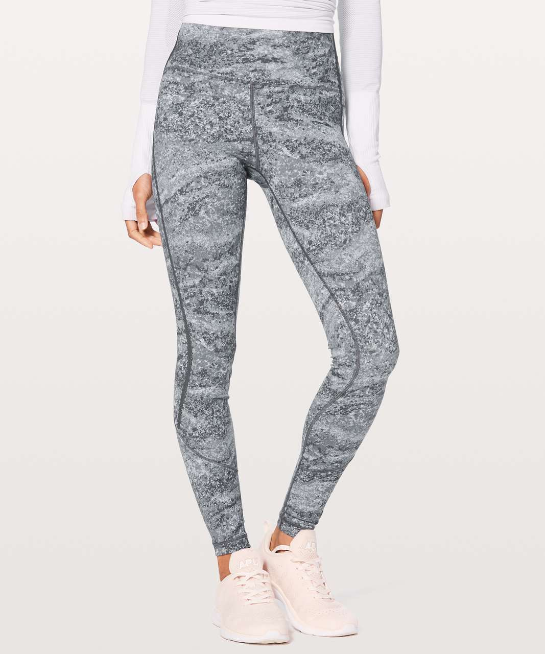 "Lululemon Stop Drop & Squat Tight 28"" - Area Ice Grey"
