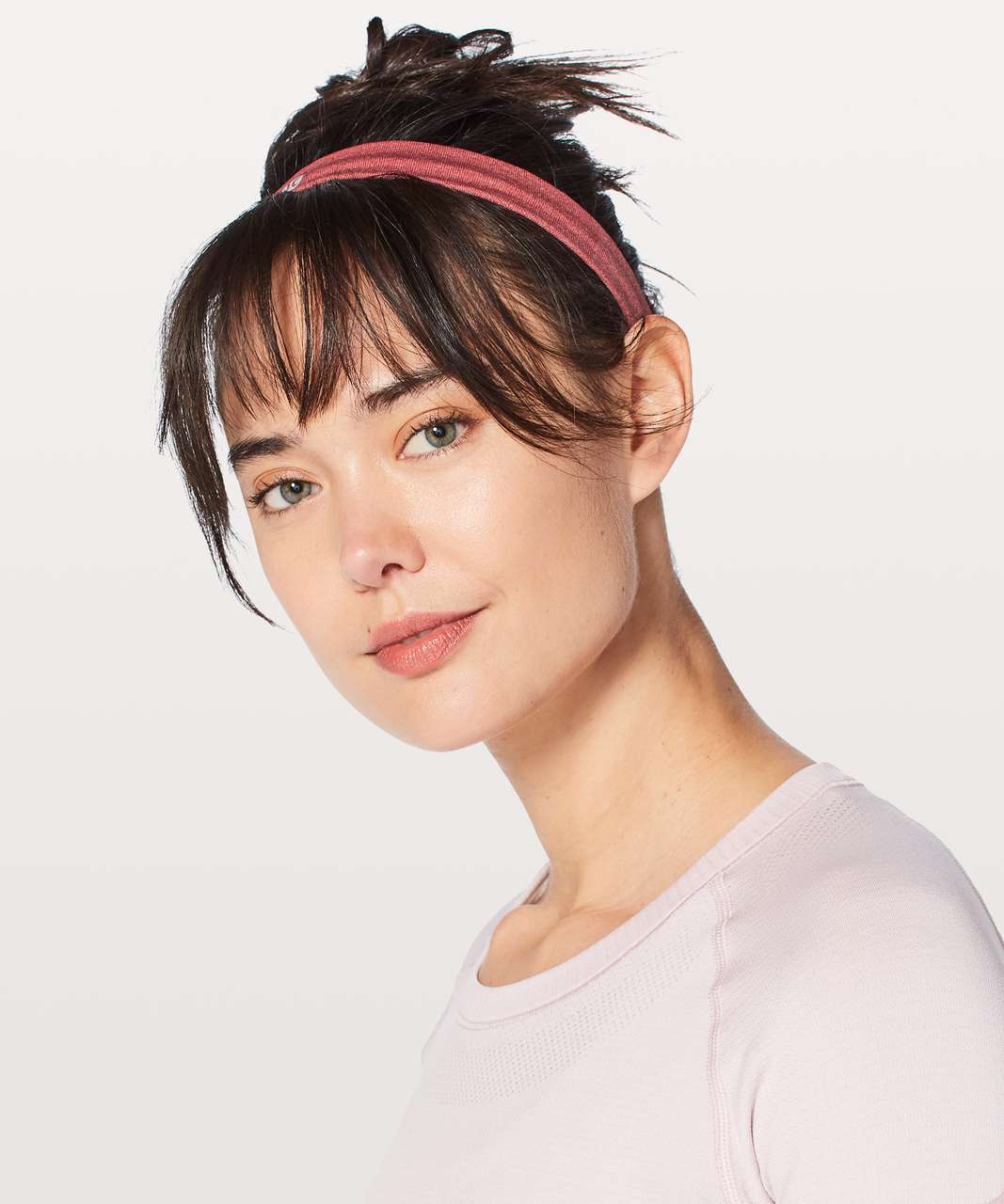 Lululemon Cardio Cross Trainer Headband - Persian Red / White