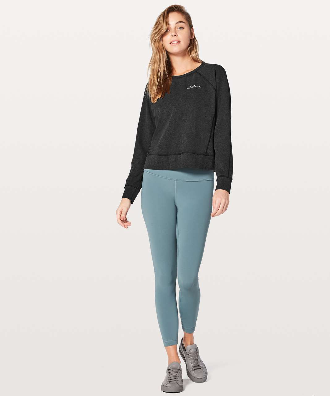 Lululemon Loop Back Crew *Expression - Heathered Black
