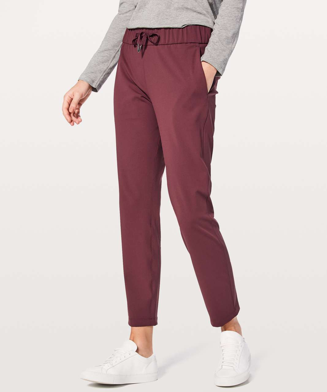 "Lululemon On The Fly Pant *28"" - Redwood"