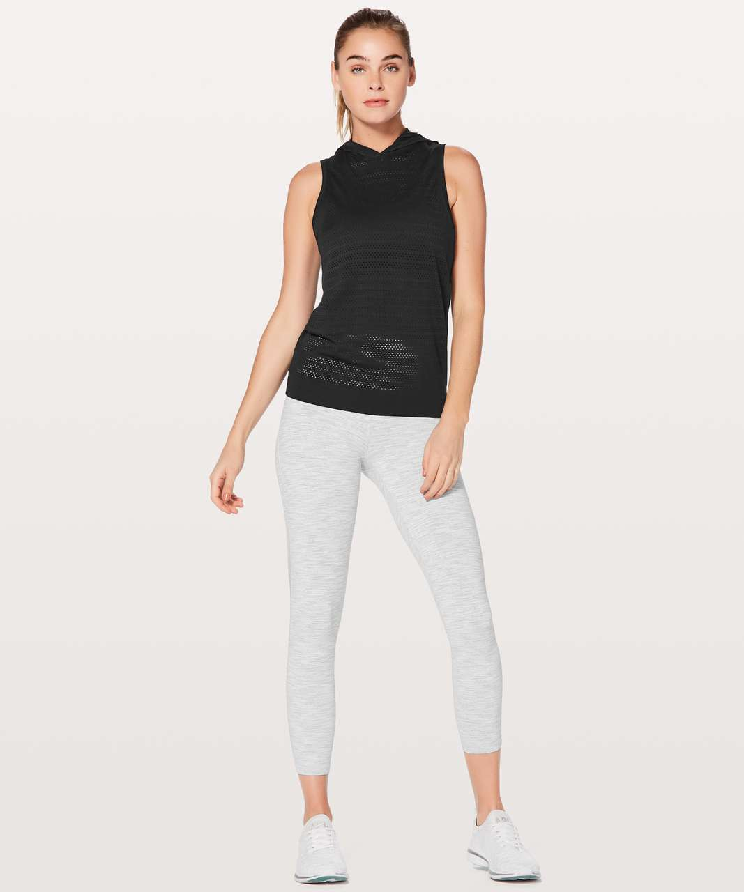 Lululemon Breeze By Hooded Tank Squad - Black / Black