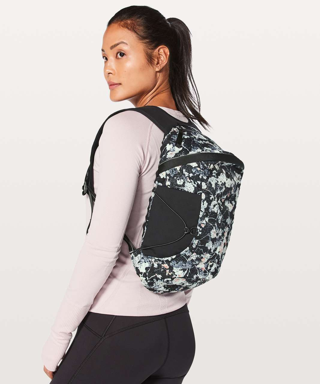 Lululemon Run All Day Backpack II *13L - Mini Spring Bloom Multi Black / Black