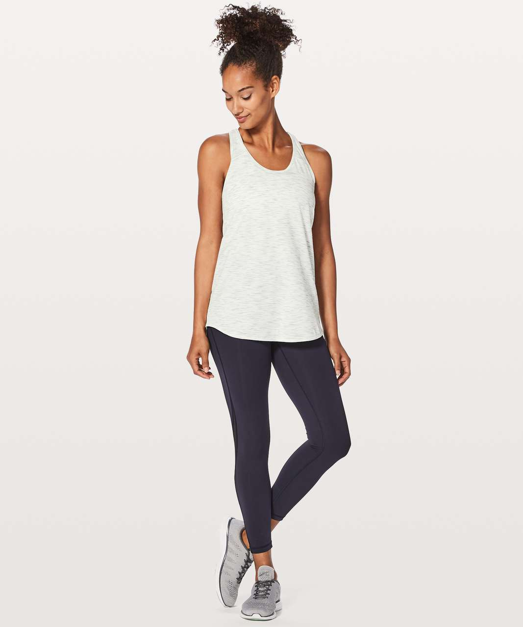 Lululemon Essential Tank - Tiger Space Dye Hail White
