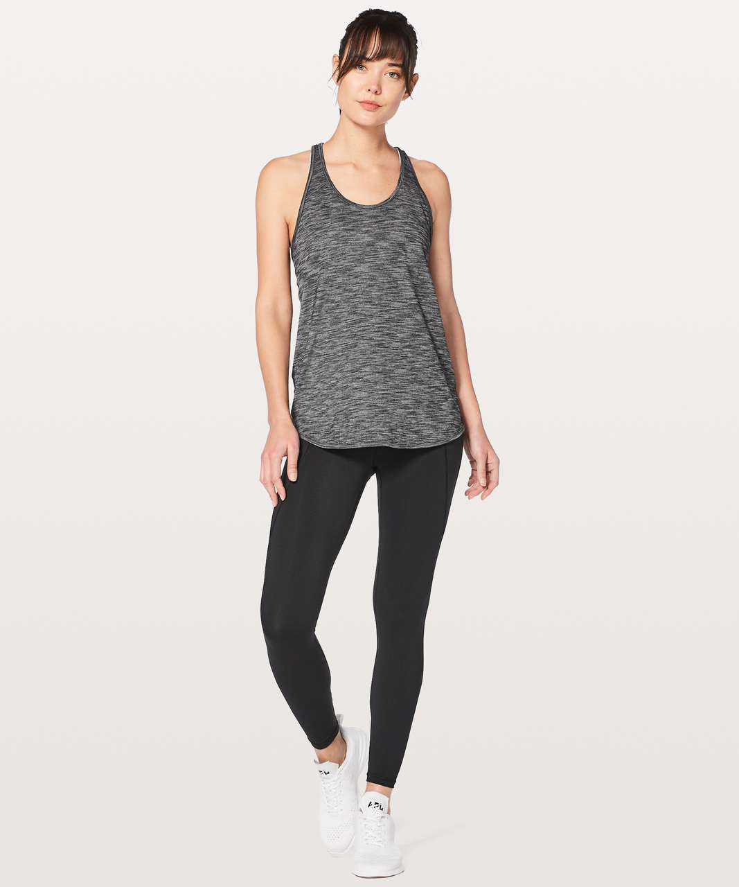 Lululemon Essential Tank - Heathered Black (Third Release)