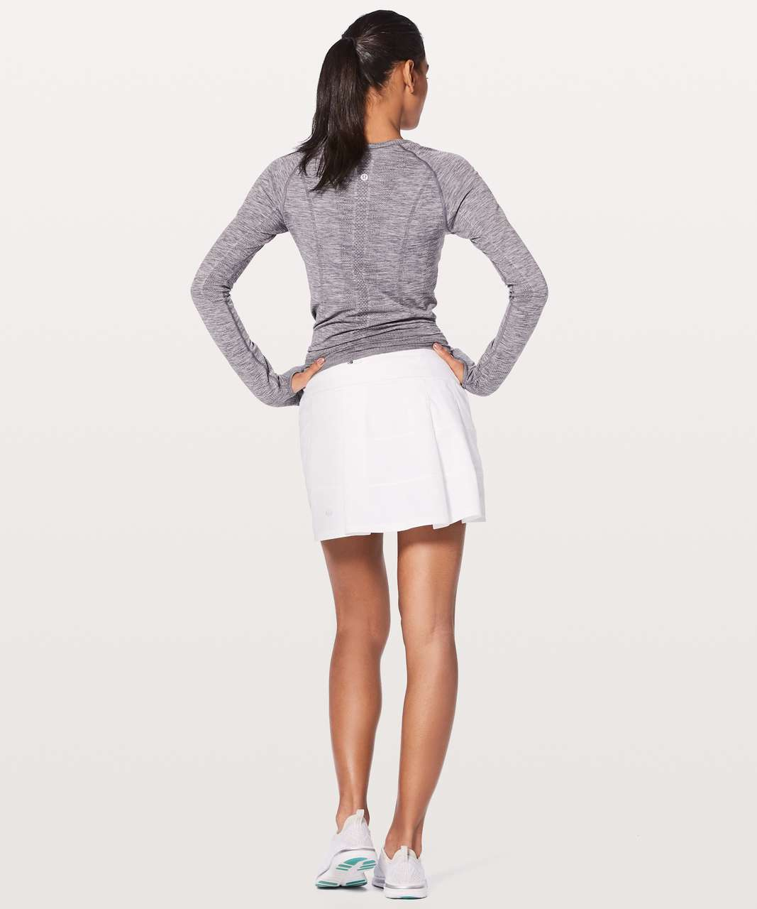 "Lululemon Pace Rival Skirt (Tall) *4-way Stretch 15"" - White (First Release)"
