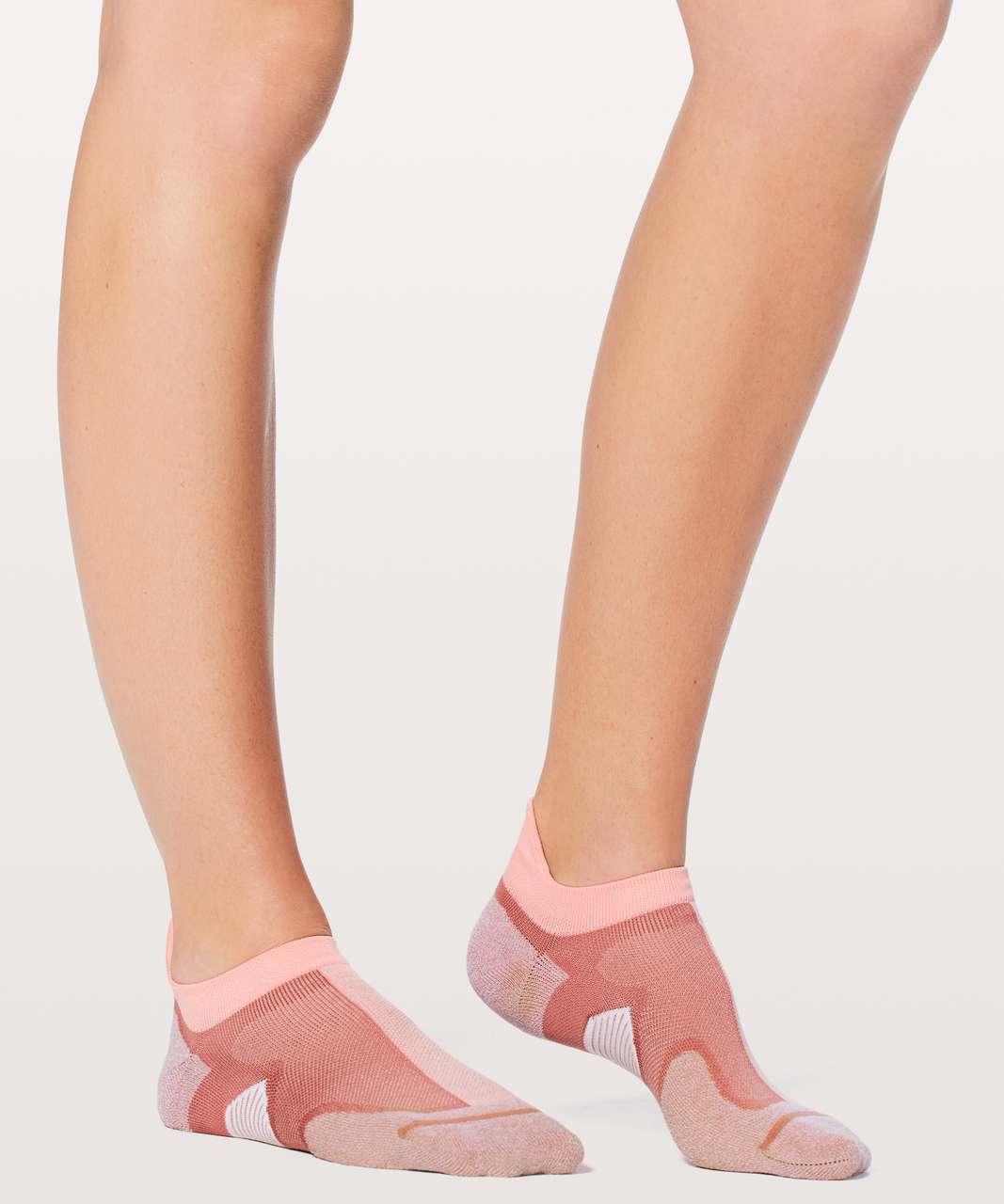 Lululemon Speed Sock *Silver - Quicksand / Cupcake Pink / White