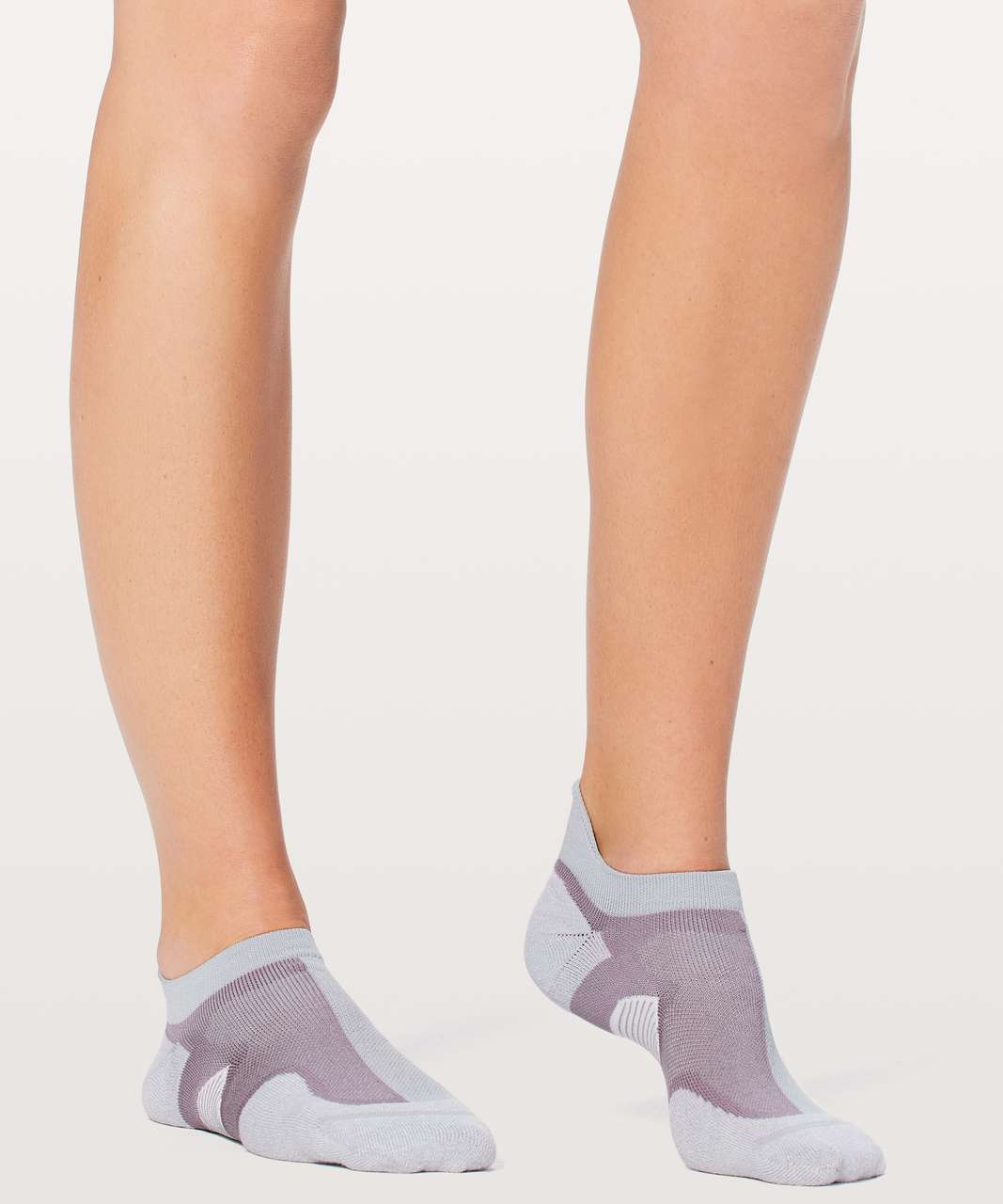 Lululemon Speed Sock *Silver - Silver Fox / Dusty Dawn / White