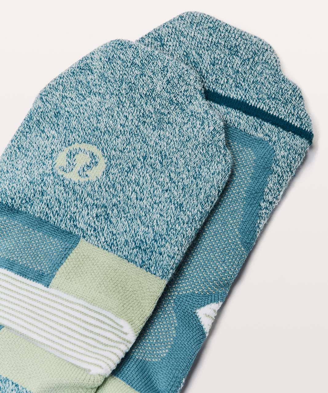 Lululemon Speed Sock *Silver - Julep / Persian Blue / White