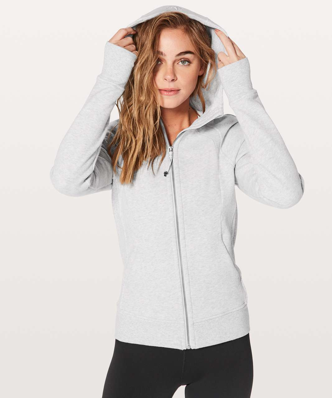 Lululemon Scuba Hoodie *Light Cotton Fleece - Heathered Core Ultra Light Grey / Nimbus