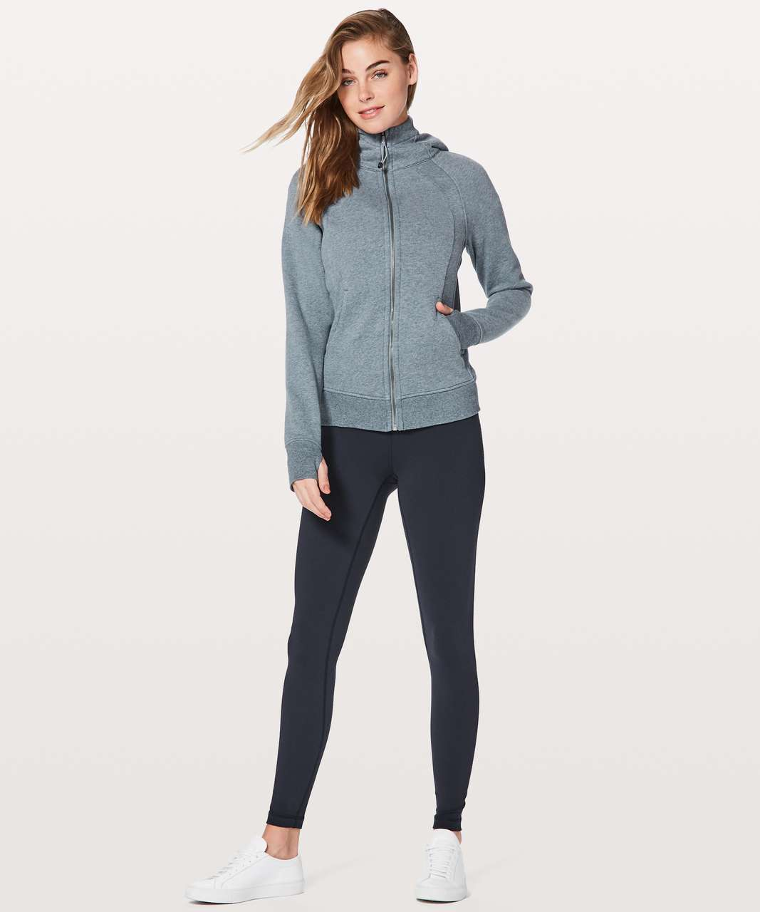 Lululemon Scuba Hoodie *Light Cotton Fleece - Heathered Sterling