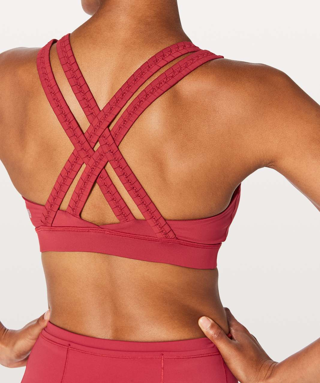 Lululemon Energy Bra Braided - Persian Red