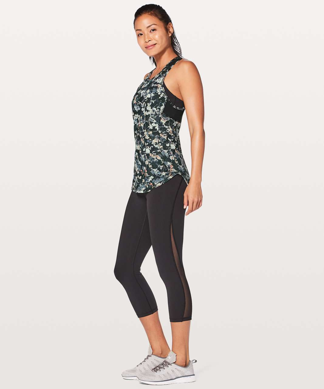 Lululemon Sculpt Tank II - Spring Bloom Multi / Black