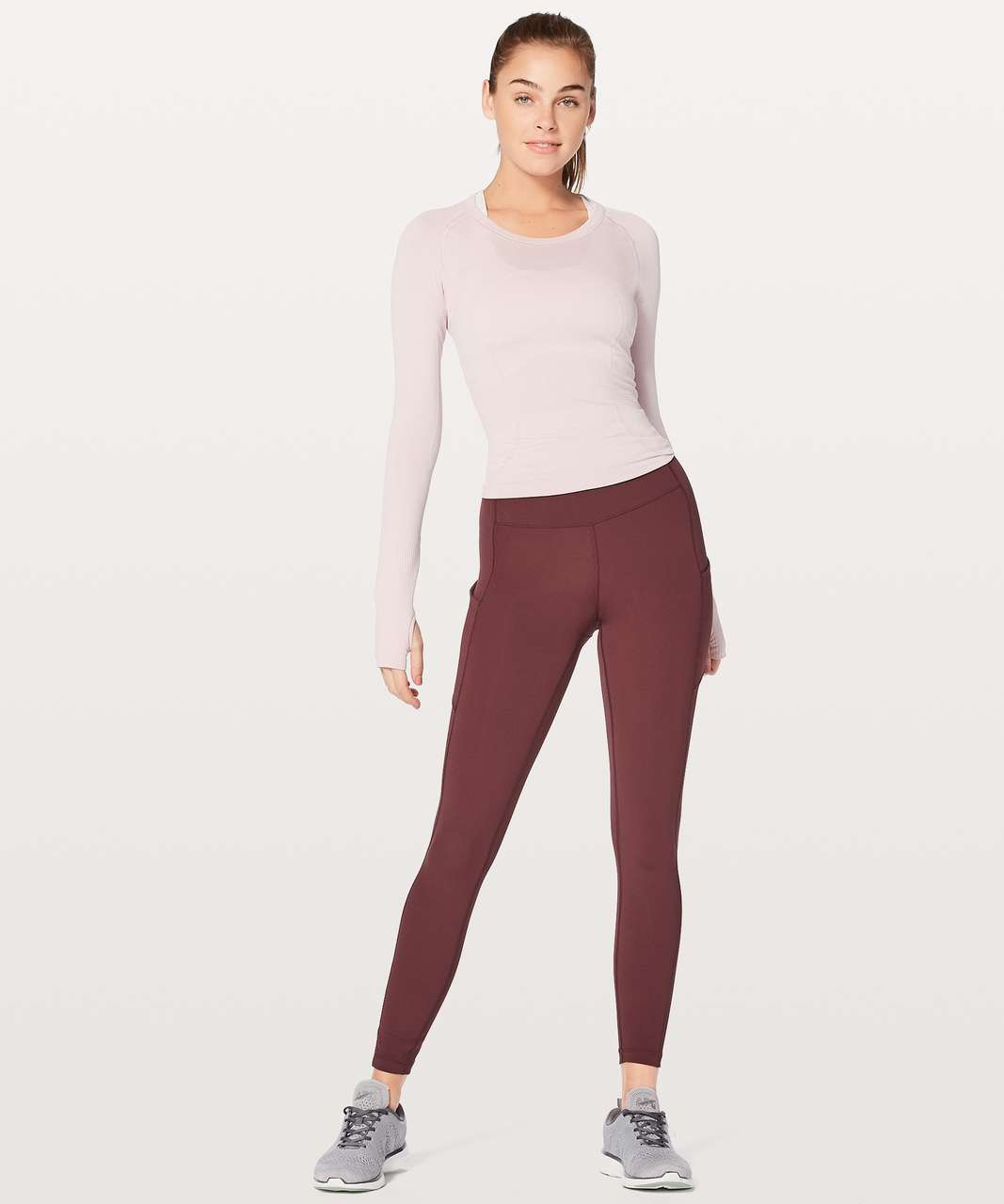 "Lululemon Speed Up Tight *Full-On Luxtreme 28"" - Redwood"