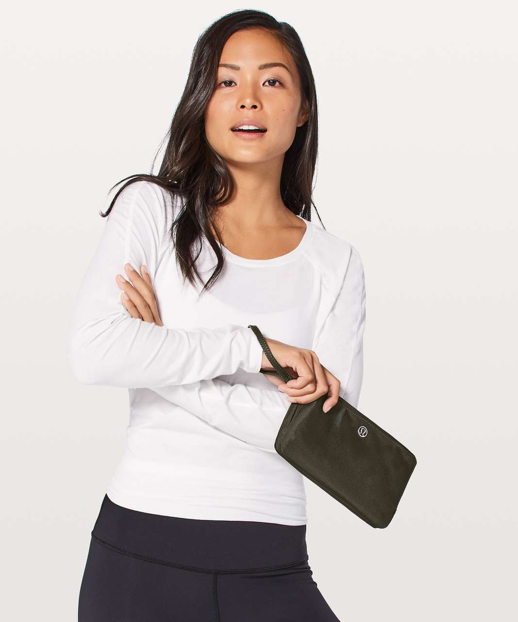 Lululemon Double Up Pouch - Dark Olive