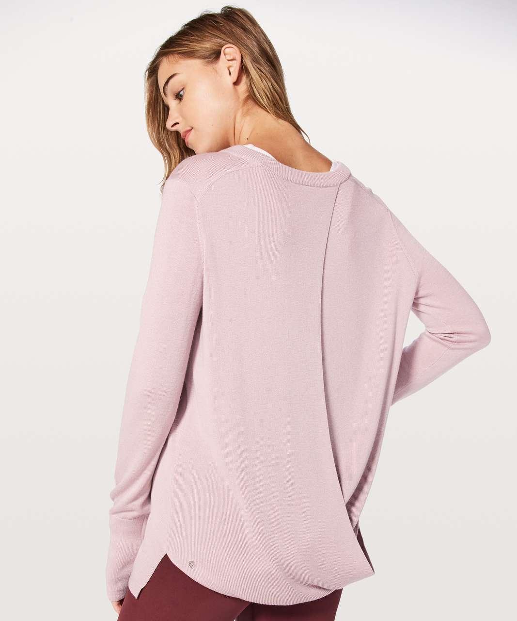 Lululemon Bring It Backbend Sweater - Porcelain Pink