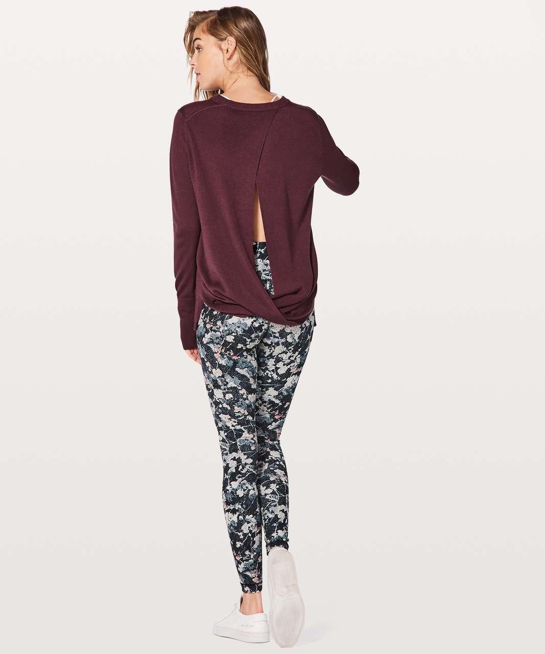 Lululemon Bring It Backbend Sweater - Redwood