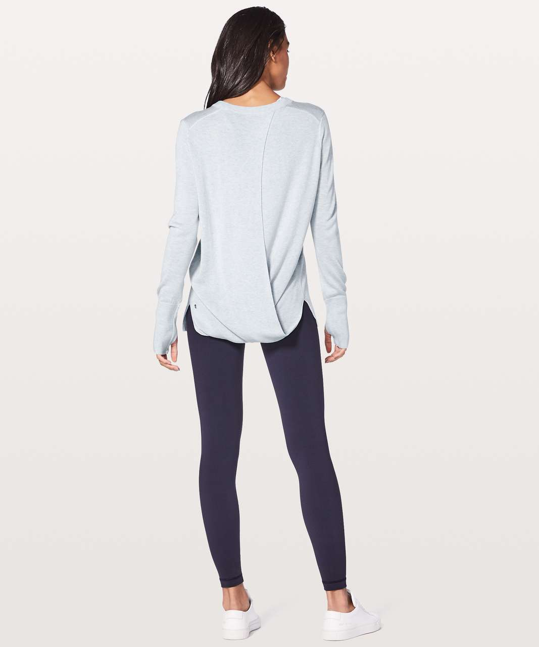 Lululemon Bring It Backbend Sweater - Heathered Alpine White