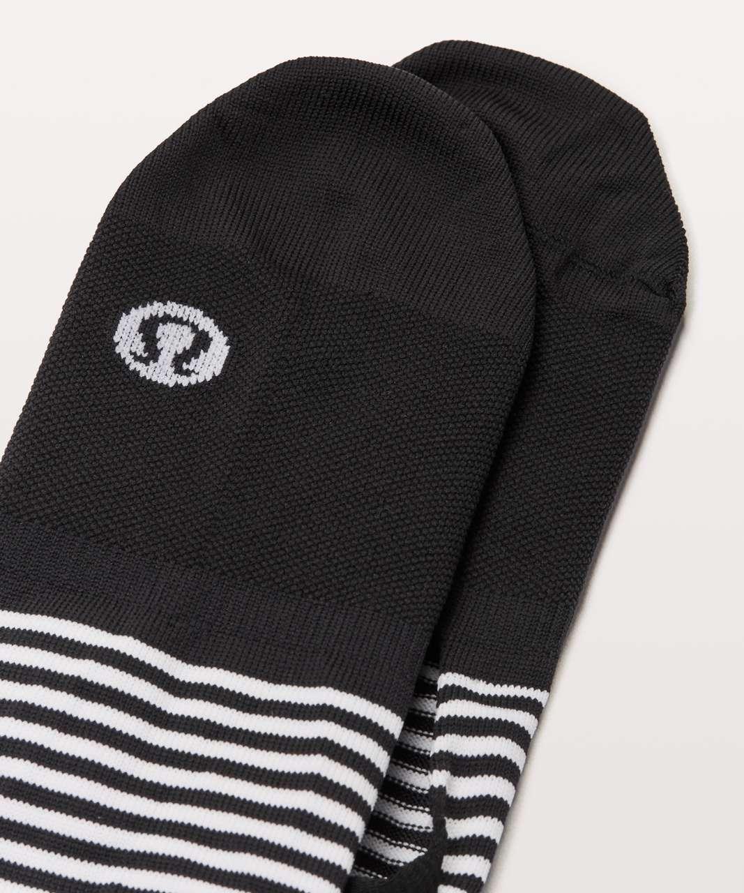Lululemon Secret Sock - Black / White