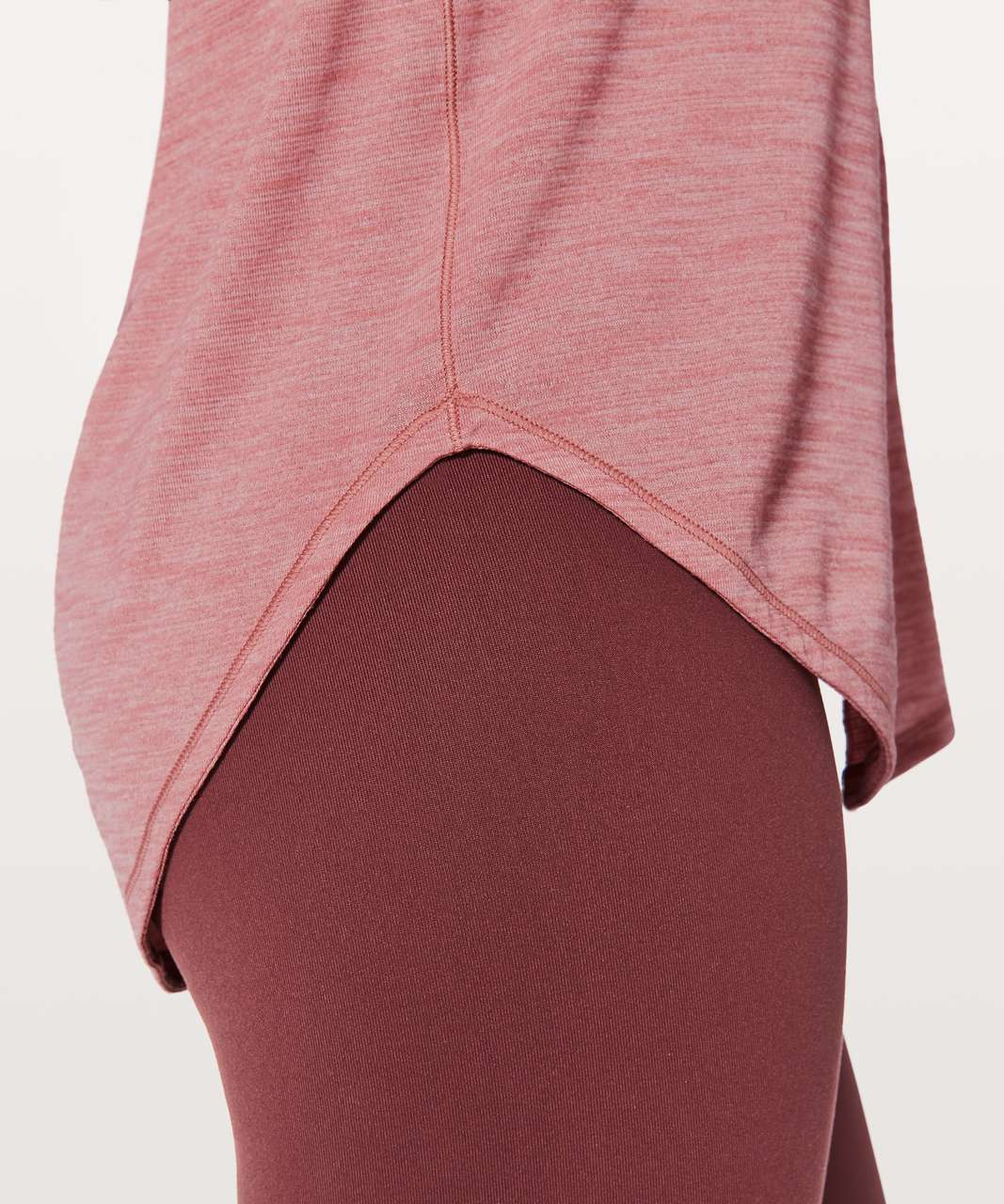 Lululemon Free To Be Serene Tank (2 In 1) Medium Support For C/D Cup - Heathered Quicksand