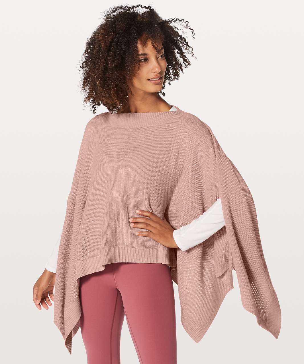 Lululemon Forward Flow Cape - Heathered Mink Berry