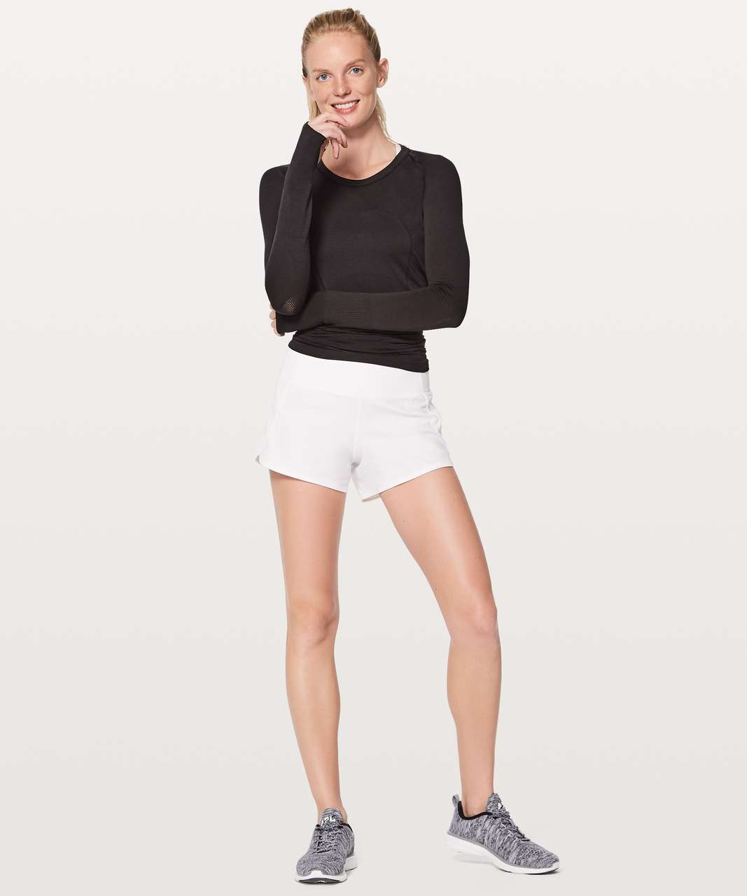 "Lululemon Run Times Short II*4"" - White"