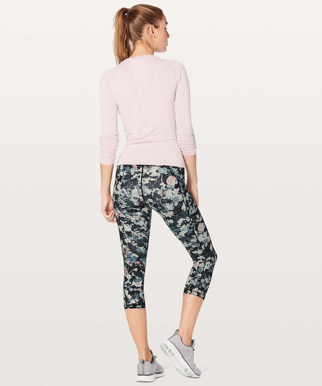 "Lululemon Speed Up Crop *21"" - Spring Bloom Multi"