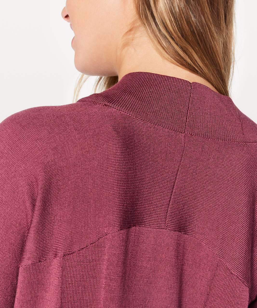 Lululemon Blissful Zen Sweater - So Merlot