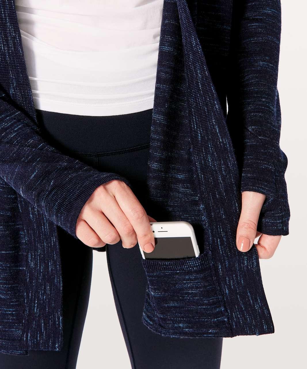 Lululemon Blissful Zen Sweater - Midnight Navy / Magnetic Blue