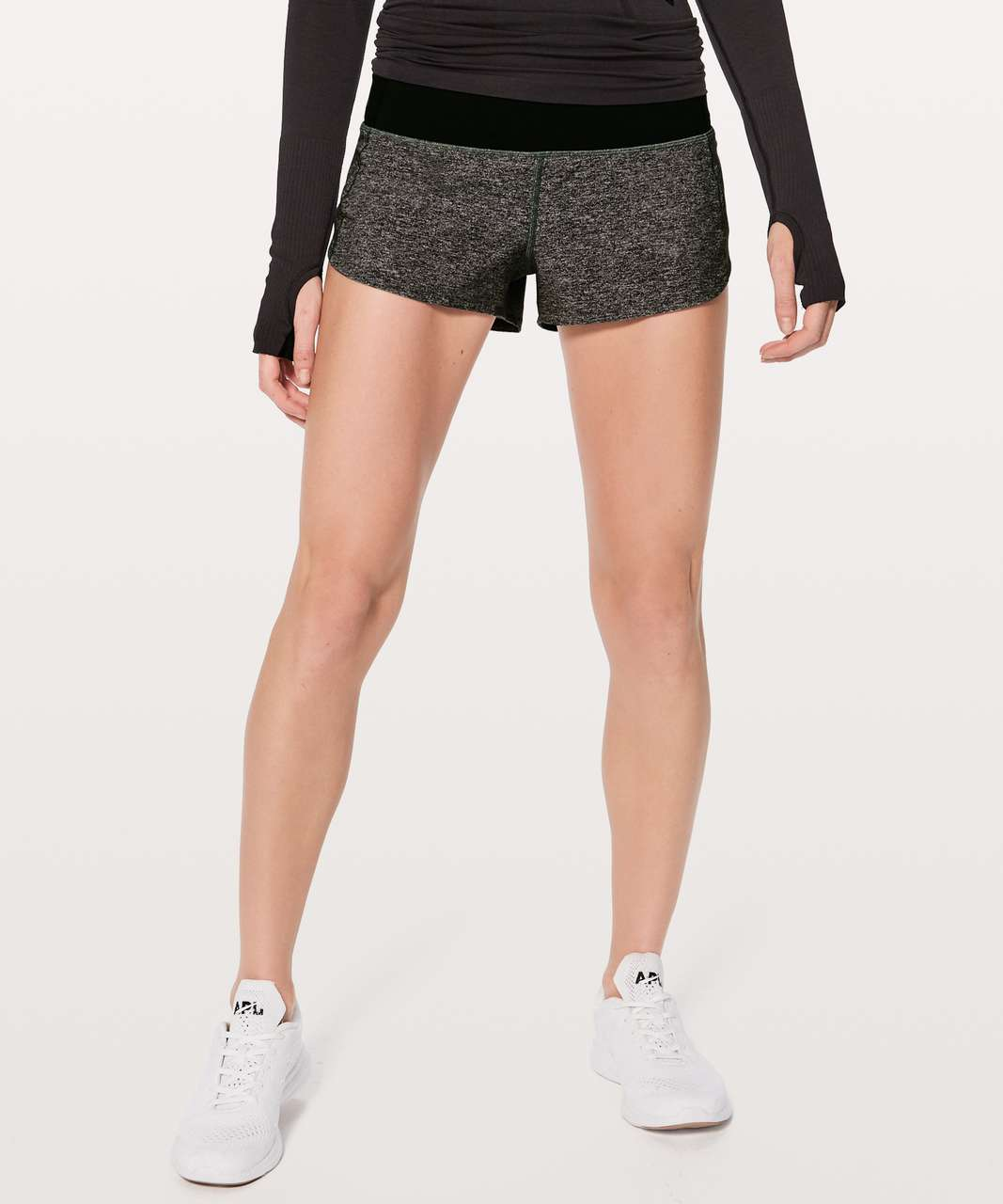 "Lululemon Speed Up Short *2.5"" - Heather Lux Multi Black / Black"