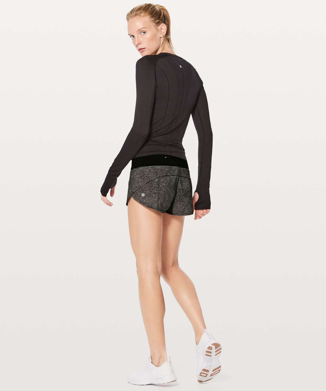 "Lululemon Speed Up Short *2.5"" - Heather Lux Multi Black / Black (First Release)"