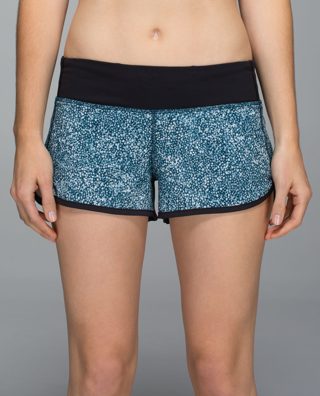 Lululemon Run:  Speed Short *4-way Stretch - Pebble Print Parfait Pink Alberta Lake / Black