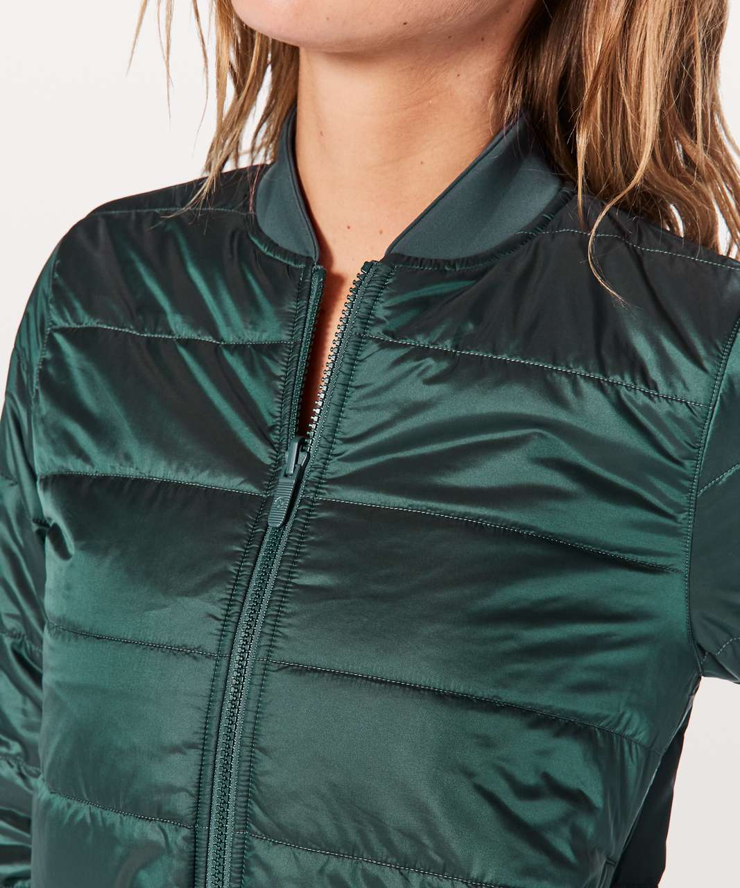 Lululemon Non-Stop Bomber *Reversible - Teal Shadow / Mystic Green
