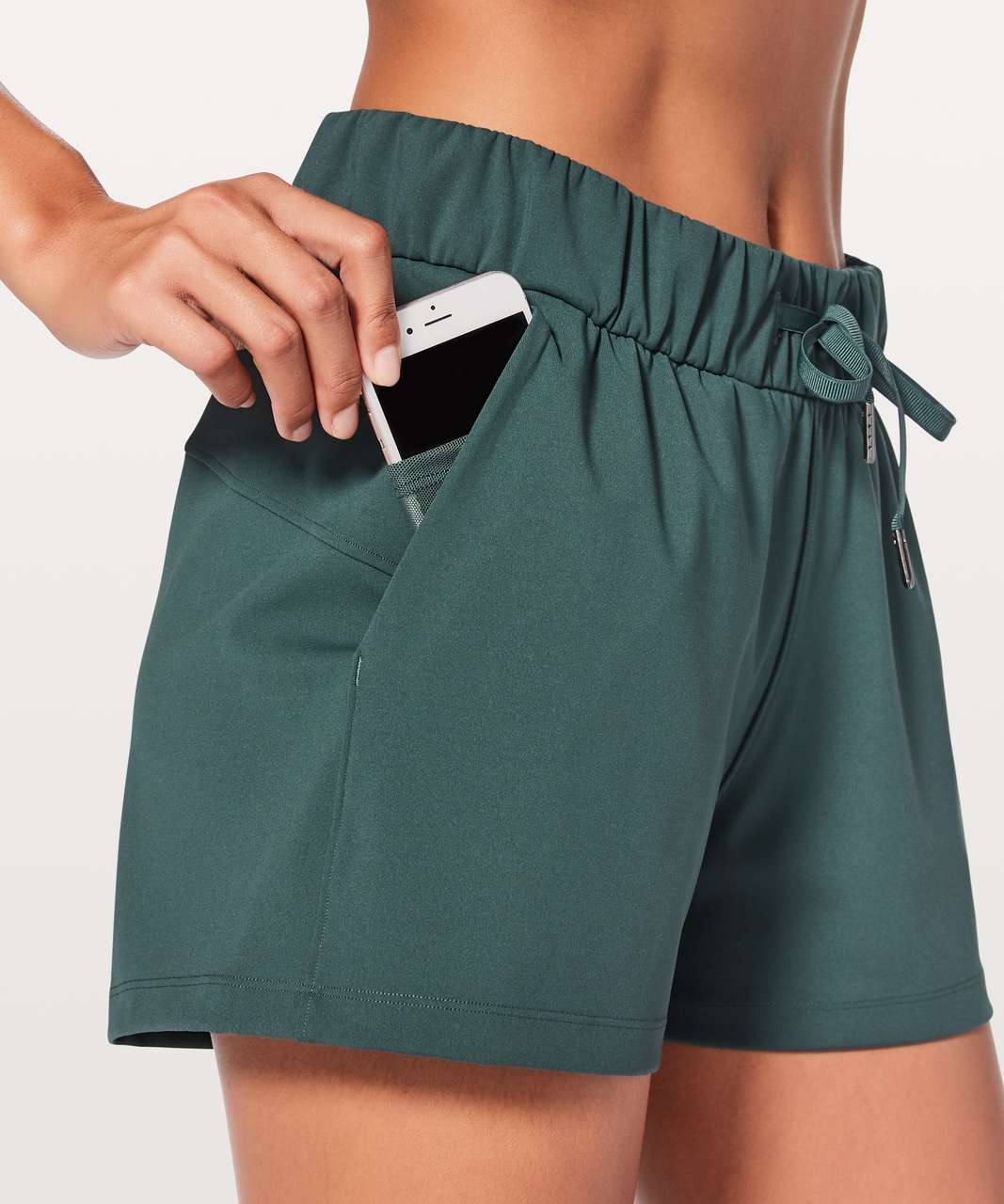 "Lululemon On The Fly Short 2.5"" - Teal Shadow"