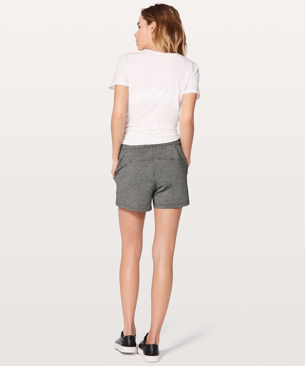 "Lululemon On The Fly Short *2.5"" - Heathered Black / Black"