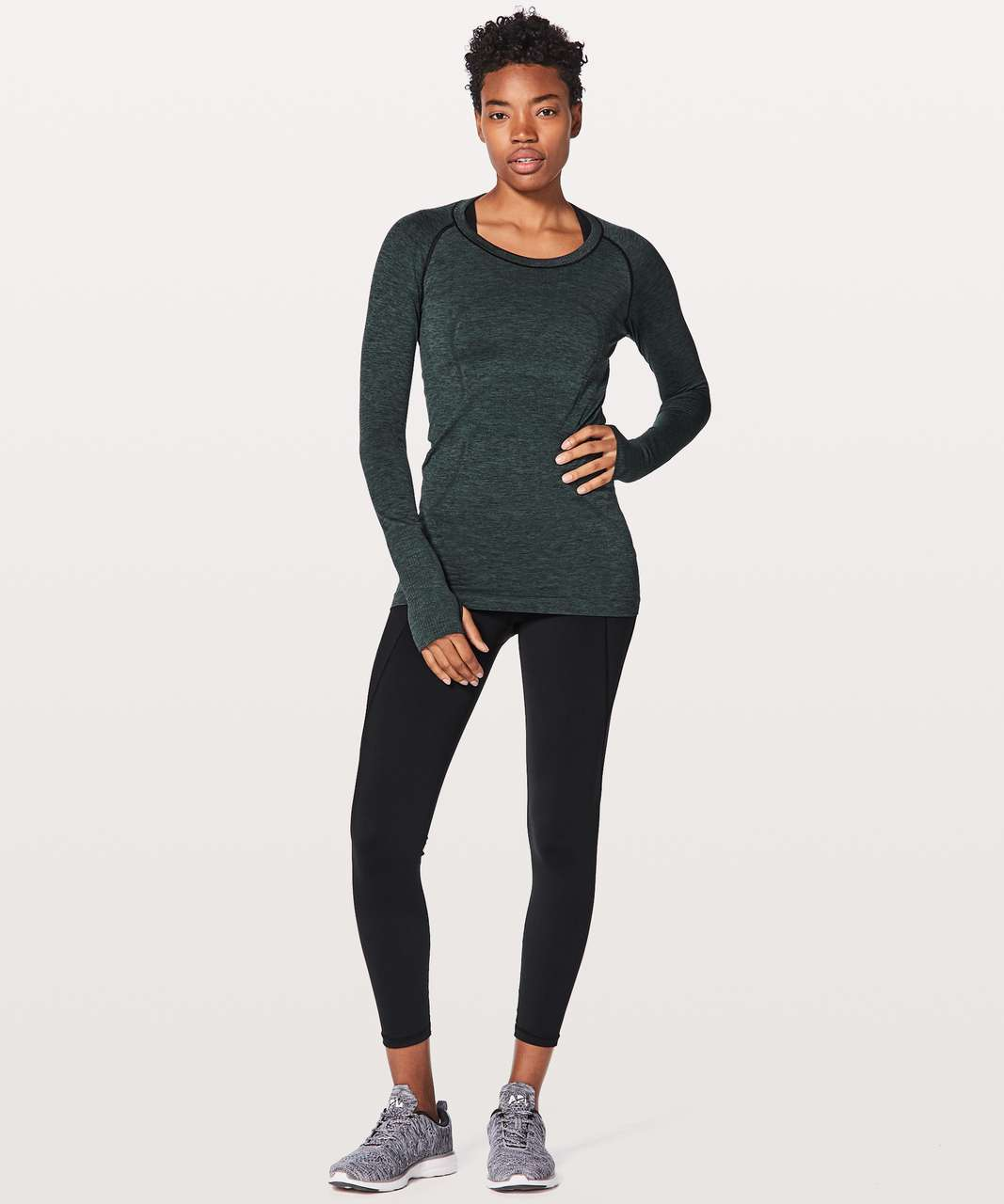 Lululemon Swiftly Tech Long Sleeve Crew - Teal Shadow / Black