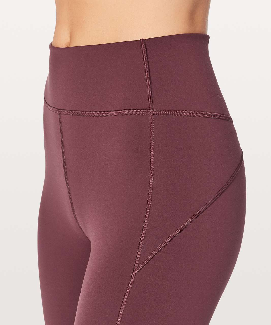 "Lululemon In Movement Crop *Everlux 19"" - Redwood"