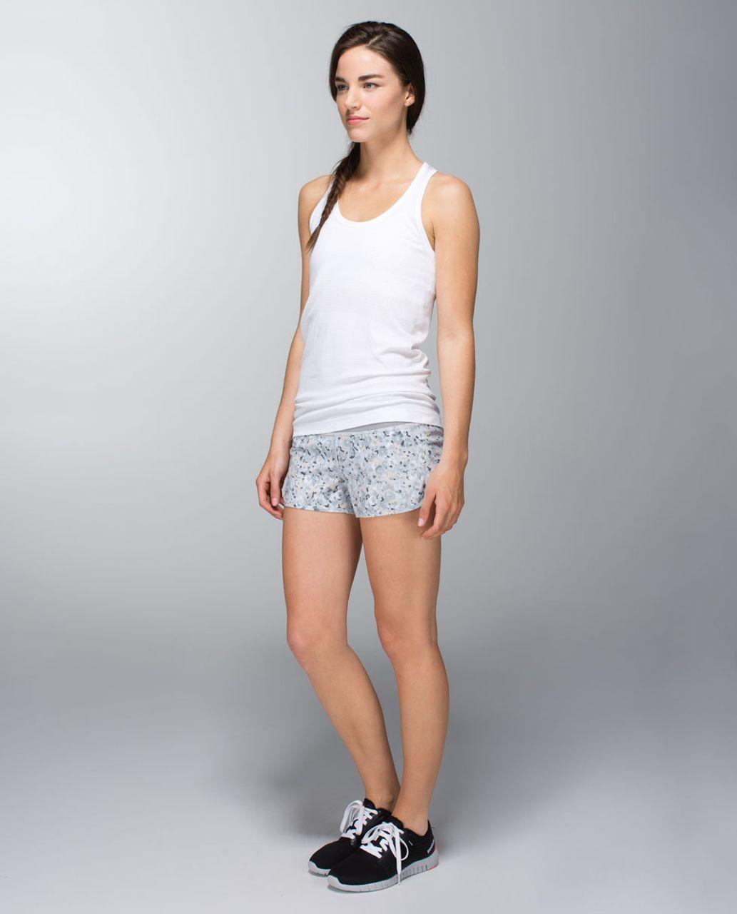Lululemon Run:  Speed Short *4-way Stretch - Not So Petite Fleur Silver Spoon / Ambient Grey